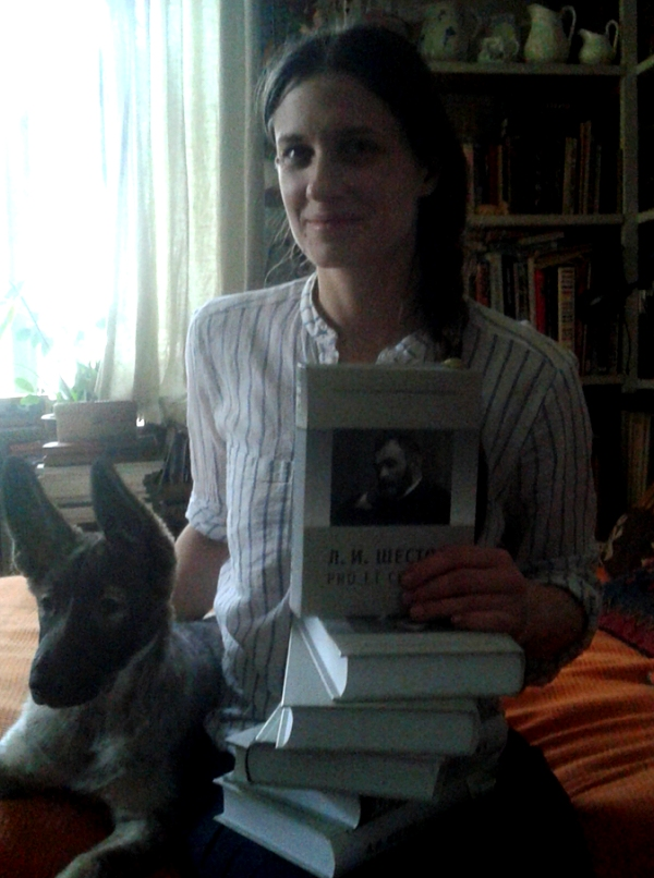 Анна Толстая с книгами Л.И. Шестов pro et contra